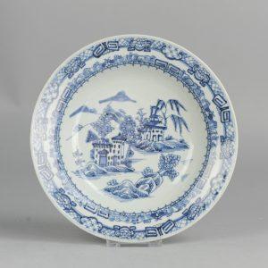 18C Chinese Porcelain Plate Church Island